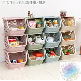 Stackable Storage Box! Plastic PP Material! Organizer   Cabinet   Kitchen Rack   Furnitu