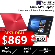 Brand New Asus Vivobook X411UA  i5-8th Generation  8GB RAM 256GB SSD 14Inch Anti Glare/1 Year Asus W