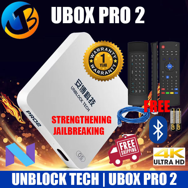 #Cheapest+ Free Air Mouse#2019 Version Ubox Pro 2 OS 7 BT HK Version Local Seller 1 Year Warranty Deals for only S$349 instead of S$349