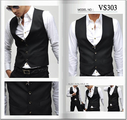 NEW arrivals! Men's Waistcoat/ weɪst/Male vest / vest V collar/ new / slim collar vest Korean Suitin