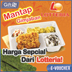 ☆Lotteria☆ Mantap Gimjaban Special Promotion ☆ Only Qoo10 Promotion ☆ Mobile voucher only