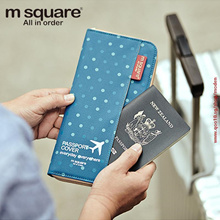 M Square Passport Cover Travel Wallet Document Passport Holder Organizer Cover on The Passport Women