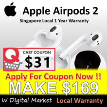 READY STOCK-Authentic Apple AirPods 2*Singapore Local 1 Year Warranty * iPhone Smartphone Device