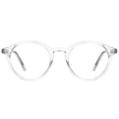 ae69871a01c TIJN Vintage Women Thick Round Rim Non-prescription Glasses Eyeglasses  Clear Lens