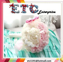Wedding Bouquet Handmade Chiffon Flowers