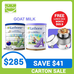 *Lowest Price* [Bundle of 6] Karihome 900g Goat Milk Powder From New Zealand for Kids 12m+ or 3yo+