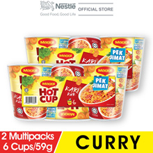 MAGGI Hot Cup Curry 6 Cups 59g x2 Multipacks