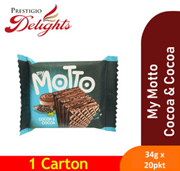 【My Motto Wafer 34g x 20pkt】Available in 3 flavours !! NO PALM OIL NO TRANS FAT.