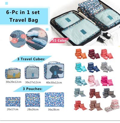 #Travel pouch/6-Pc in 1 set Travel Bag/travel bag/