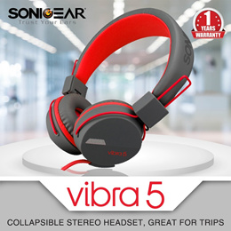 VIBRA 5 - 2.1 COLLAPSIBLE HEADPHONES, Supreme Bass with Microphone. Smartphone, Laptop, PCs, Tablets Compatible. LOCAL STOCKS!