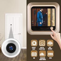2.4&quot  inch Peephole Viewer Camera Video Doorbell Door Eye Wide Angle FIFO Door Bell Security Cam