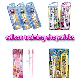 ☆Edison Training Chopsticks☆ Pororo / Poli / Tayo / step 2 / left-handed (Qxpress)