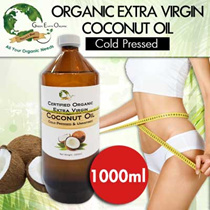[Lowest Price In SG] !Organic Extra Virgin Coconut Oil 1000ml Unrefined [For Heart Health / Moisturing Skin / Promote Hair Growth / Weight Control / Oil Pooling]
