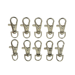 10Pcs Lobster Clasps Swivel Trigger Clips Snap Hooks Bag Key Ring Findings
