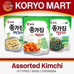 Jongga Kimchi / 9 types / 750G /500g /200G /1KG / 75G / 380G