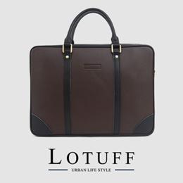 LOTUFF Leather Briefcase LO-0501 DBR Mens bag