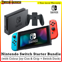 Local Stocks! Nintendo Switch Starter Color Bundle Portable Console. 12 Months Warranty!