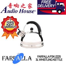FARFALLA FSK-2225 3L WHISTLING KETTLE ***1 YEAR FARFALLA WARRANTY***