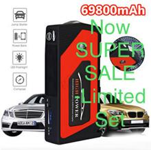 82800mAh ★ 69800mAh OFFER ★ Airpump Multi-Function Car Jump Starter Emergency Charger Power Bank