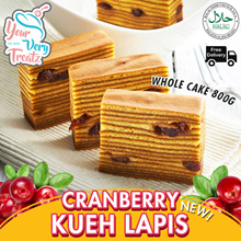 [Back By Popular Demand!] CRANBERRY KUEH LAPIS PROMO!! 1 Whole Cake with FREE DELIVERY!!