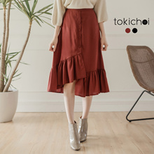TOKICHOI - Fishtail Button Up Skirt-181088-Winter