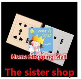 1pc Dual USB Port Electric Wall Charger Dock Socket Power Outlet Panel Plate Hot Worldwide