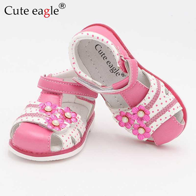04567ad7e2 discount Cute Eagle Summer Girls Orthopedic Sandals Pu Leather Toddler Kids  Shoes for Girls Closed T
