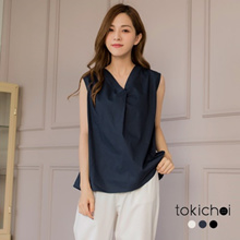 TOKICHOI - V-Neck Sleeveless Chiffon Top - 182639