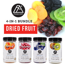 [CNY gifts] 4-in-1 Bundle Healthy Snacks Natural Dried Fruits Apricot/Cranberries/Jumbo Raisin