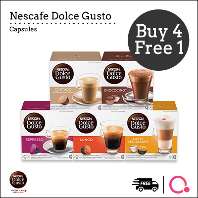 ?DOLCE GUSTO®?NDG | Capsules Bundle? BUY 4 FREE 1 Deals for only S$99.3 instead of S$99.3