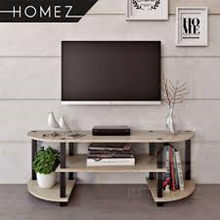 HOMEZ TV CABINET BROWN / BLACK