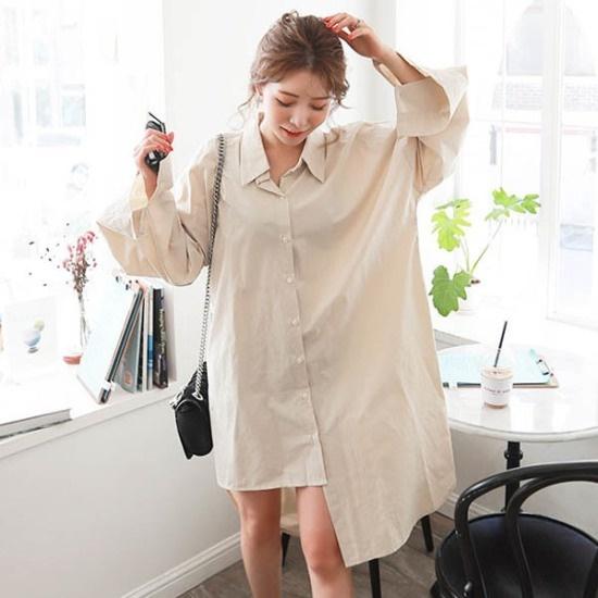 素であるグリクのヨーグルトオンバルロンシャツ、ワンピース 綿ワンピース/ 韓国ファッション