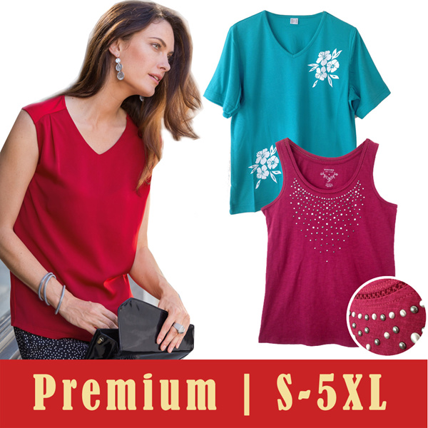 PREMIUM Brand Tops | Kaos wanita atasan | S-5XL Deals for only Rp49.000 instead of Rp49.000