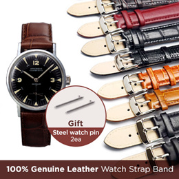 [Buy Get Free Gift] ♥ 58Type Leather Watch Band Strap (Width 06~24mm) All Flat Price ♥ Nato Band / 100% Genuine Leather /