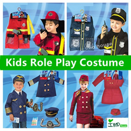 ❤IMP❤[Kids Role Play Costume]Fire Fighter/Police Office/Doctor/Construction Worker/Pilot/Cabin