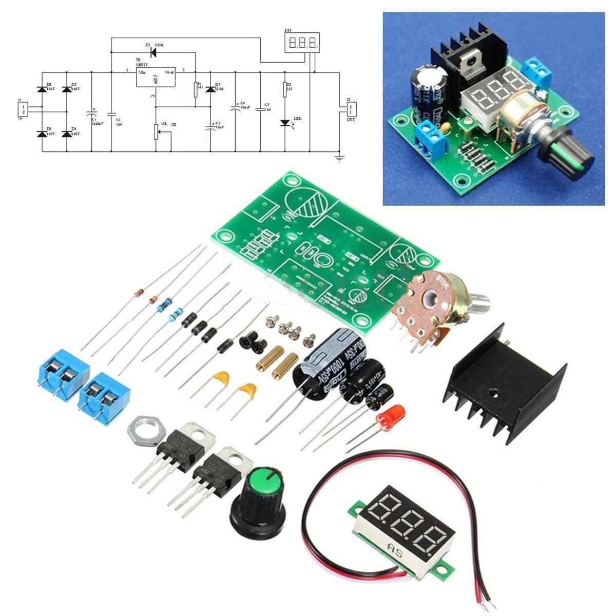 Qoo10 Diy Kit Led Lm317 Adjustable Voltage Regulator Step Down Fit To Viewer Prev Next
