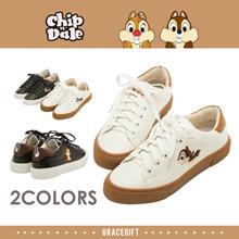 [Free Gift!!] Gracegift-Disney Chip n Dale Mismatch Sneakers/Women/Ladies/Girls Shoes/Taiwan Fashion