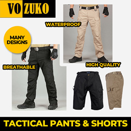 New Arrival | Tactical Pants or Shorts IX7 IX9 Waterproof Breathable High Quality  pants VOZUKO | Super Flash deal