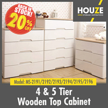 4 And 5 Tier Wooden Top Cabinet ♦ Strong And Durable ♦ 100% Virgin PP ♦ Sturdy