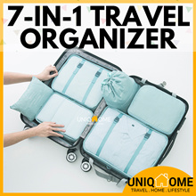✈️UNIQHOME✈️TRAVEL BAG ORGANIZER 8-IN-1 LUGGAGE COVER★SHOE BAG ORGANISER★ COSMETICS POUCH