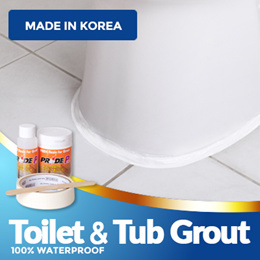 【PRIDE POWER】 Toilet bowl resin for grout ★100% waterproof★Mildew resistant★Made in Korea
