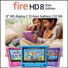 ★쿠폰사용 가능★쿠폰가 $125.60★ Fire HD 8 Kids Edition 태블릿/ 8인치 HD 디스플레이 32GB  Pink / Purple / Blue