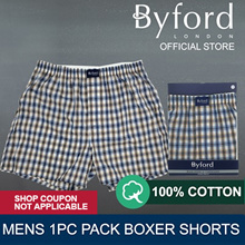 [1+1] BYFORD 1pc Mens Woven Boxer Shorts - BMX806608
