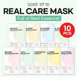 2021 NEW ARRIVAL💛[SOME BY MI] REAL CARE MASK SHEET /Teatree/Cica/Aloe/Honey/Hyaluron/Glutathione