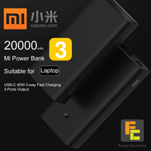 Xiaomi 20000mAH GEN 3 Powerbank charges LAPTOP USB-C 45W Two-way Quick Charge Portable Battery