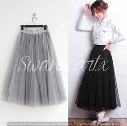 [CHEAPEST!] Korean Style Chiffon Tulle Skirts | FREE DELIVERY! | High Quality!