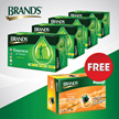 *FREE BFT* 4 packs of Brand's Essence of Chicken 6x70gm FREE 1 pack of Brand's Fine Taste 6x42gm