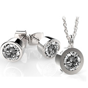Swarovskis Gemston Excellent Pure Brilliance Necklace  Earring  ((Factory Price))