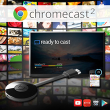 Google Chromecast 2 - HDMI Media Android Streamer Streaming Box Player Device Airplay Mirroring