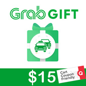 $15 GRAB RIDES VOUCHER(USE QOO10 CART COUPON) | NO PURCHASE LIMIT | INSTANT REDEMPTION